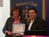 Receiving an honourary membership to the Rotary Club Mississauga - Meadowvale