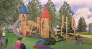 Design of Castles Playground in Paul Coffey Park