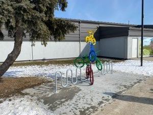 Bike Rack behind Paul Coffey Arena